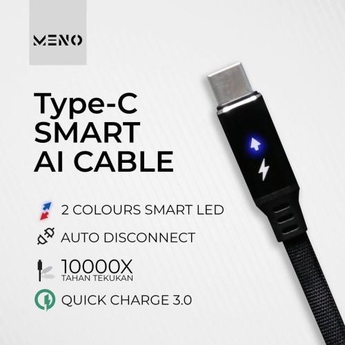 Foto Produk MENO Cable Auto Disconnect Type C Fast charger Kabel Automatic OFF hp dari Toko Barang Premium