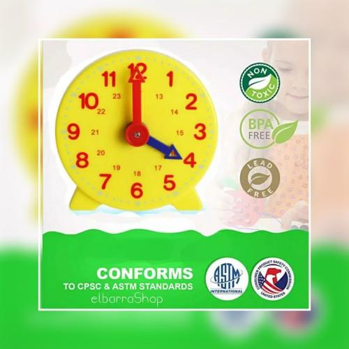 Foto Produk Mainan Jam Edukasi Anak Learning Clock Time Montessori dari Elbarra Shop