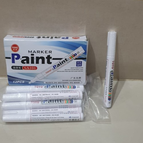 Foto Produk Spidol Toyo untuk Ban Mobil & Motor warna Putih dari toko dua_bersaudara