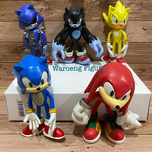Foto Produk Figure Sonic The Hedgehog Set isi 5 Ukuran Besar dari Waroeng Figure