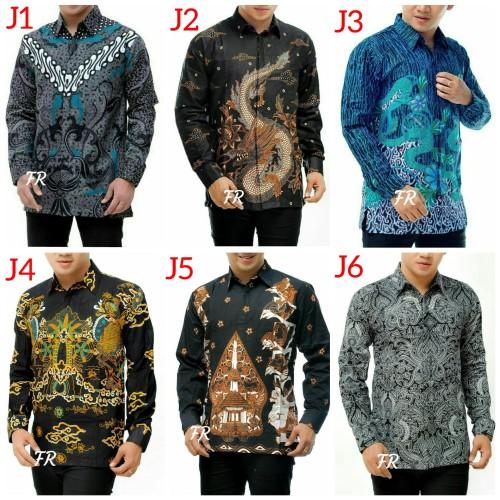 Foto Produk kemeja batik pria  kemeja batik lengan panjang   motif terbaru dari den sanjaya