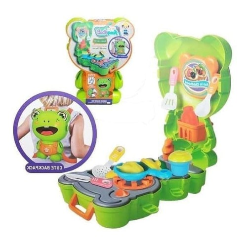 Foto Produk Mainan Anak Mainan Kitchen Pet Backpack Frog Kodok dari Toko-Ku by FAS-TOP