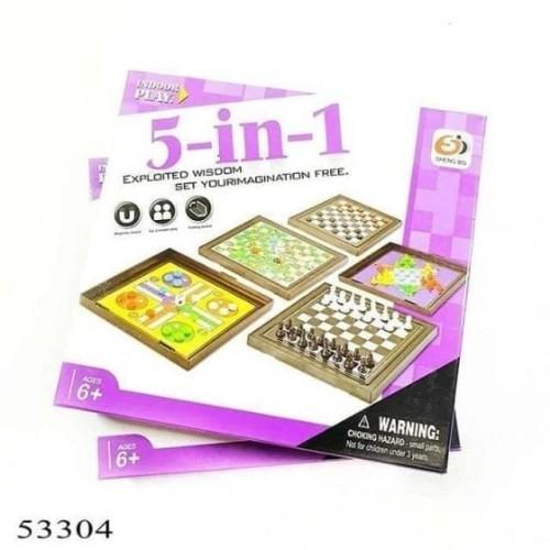 Foto Produk Mainan Anak 5 in 1 Board Games S3304 dari Toko-Ku by FAS-TOP