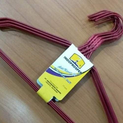 Foto Produk HANGER KAWAT WARNA (HARGA JUAL PER 1 PAK = 10 PC) - Merah dari Toko Mini Hanger