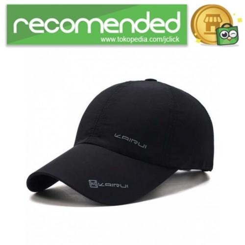 Foto Produk KAIRUI Topi Baseball Visor Sport Fashion Hat - MZ237 / Hitam dari JClick