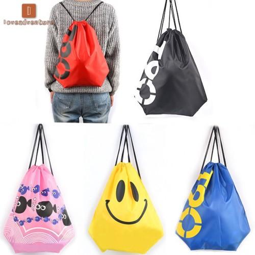 Foto Produk LV New Fashion Women Men Smile Face /Cartoon Fish Print Backpack dari ZEENASTORE