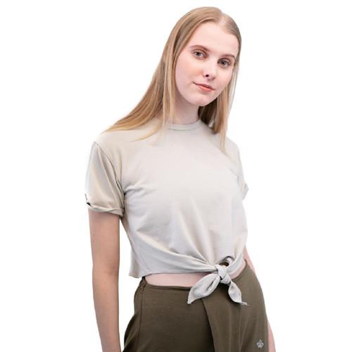 Foto Produk Baju Olahraga, Fitflo Activewear, Tencel, Ivelle Crop Top Abu-Abu - M dari Fitflo activewear