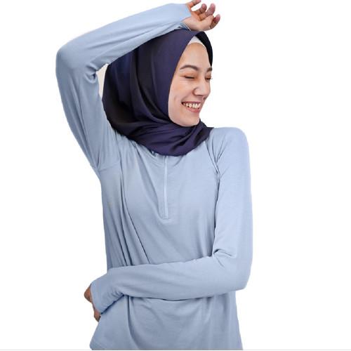 Foto Produk Baju Olahraga Panjang, Fitflo Activewear, Tencel, Amara Top Biru - M dari Fitflo activewear