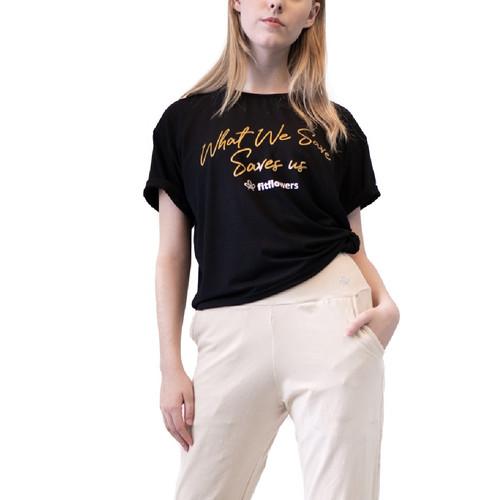 Foto Produk Baju Olahraga, Fitflo Activewear, Tencel, What We Save T-Shirt Hitam - S dari Fitflo activewear