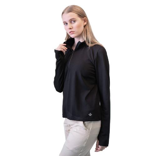 Foto Produk Baju Olahraga Panjang, Fitflo Activewear, Tencel Organic, Amara Hitam - M dari Fitflo activewear