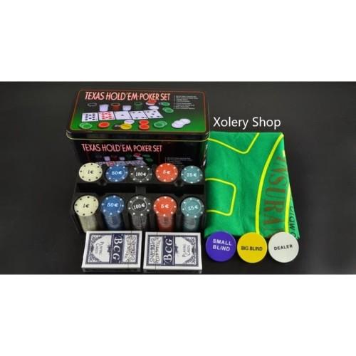 Foto Produk Texas Hold'em Poker Set Casino Style Poker Chip - Box Lengkap dari XoleryShop