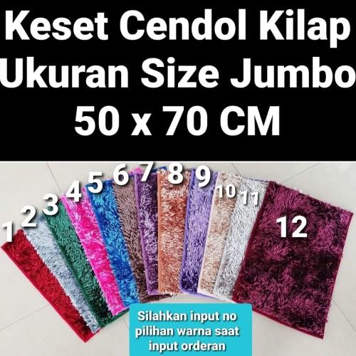 Foto Produk Keset Cendol Kilap Jumbo Size 50x70 CM Import dari Berrbi Collection