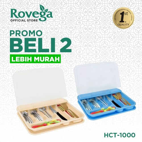 Foto Produk 2in1 Rovega Tempat Sendok Premium Cutlery Set HCT-1000 (Food Grade) dari ROVEGA OFFICIAL STORE