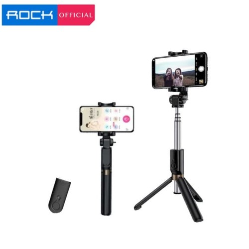 Foto Produk ROCK SPACE Bluetooth Remote Selfie Stick with Tripod II dari ROCK Official Store