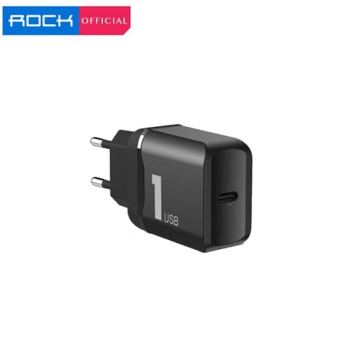 Foto Produk ROCK T12 Pro Type C Port PD 18W Travel Fast Charger EU Power Delivery dari ROCK Official Store