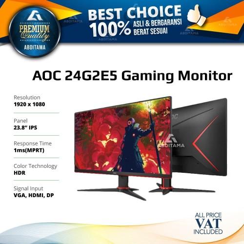 Foto Produk Monitor LED Gaming AOC 24G2E5 23.8'' 1920x 080 75Hz Display Port HDMI dari Abditama Official