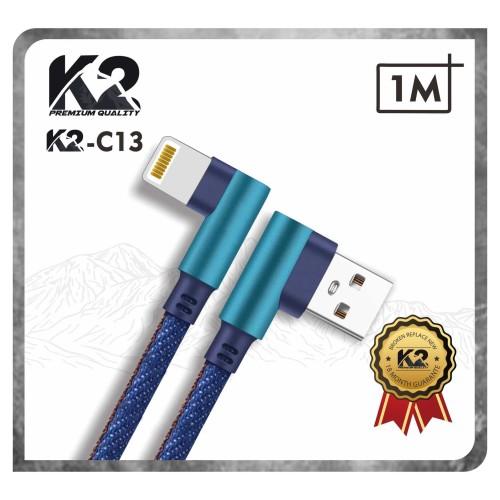 Foto Produk Kabel Data GAMING DENIM 1M K2-C13 K2 Premium Quality IPHONE Fast - IPHONE dari K2 Official Store
