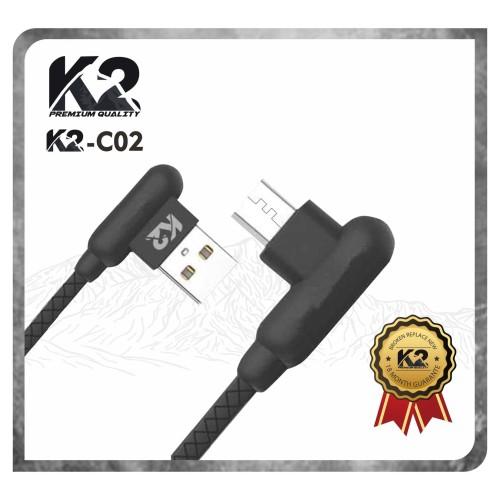 Foto Produk Kabel Data T BONE Gaming Micro Usb K2 PREMIUM QUALITY Fast charging - Hitam dari K2 Official Store