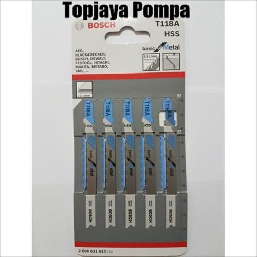 Foto Produk Mata Jigsaw / Mata Gergaji Besi BOSCH T118A isi 5pc dari TOPJAYA POMPA