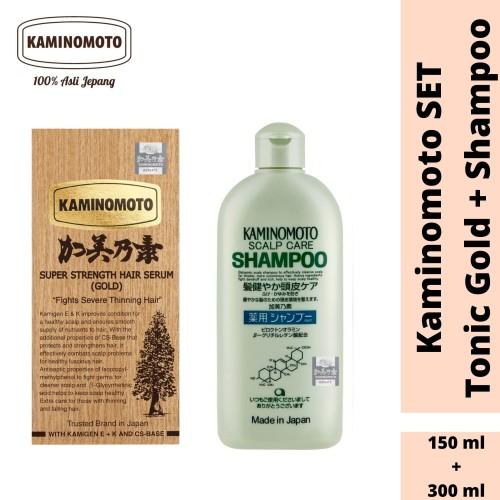Foto Produk Kaminomoto Bundling Hair Tonic Gold & Shampoo dari Kaminomoto Officialstore