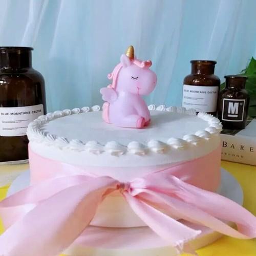 Foto Produk Hiasan Topper Kue Unicorn 3D - Pink dari BeeVee Shop