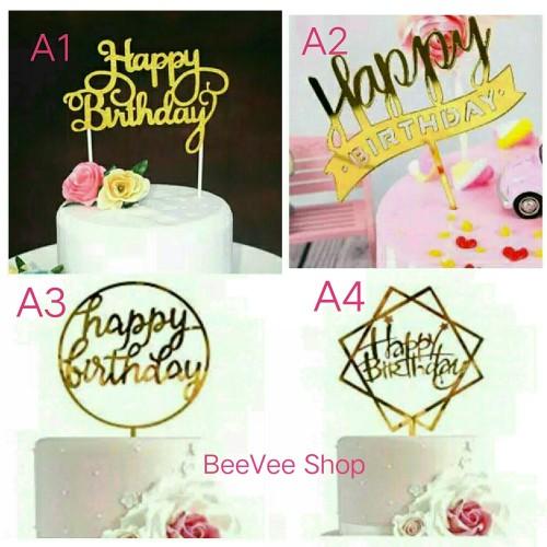 Foto Produk Cake Topper Acrylic / Hiasan Kue Akrilik - A-6 dari BeeVee Shop