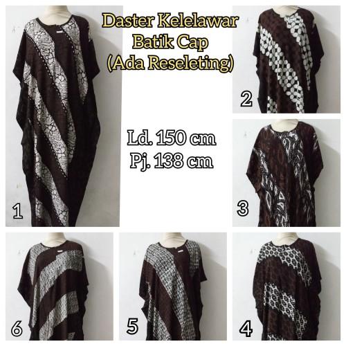 Foto Produk Daster/Longdress Kelelawar Jumbo Batik Cap Sogan (Ada Reseleting) dari Batik mbak siti