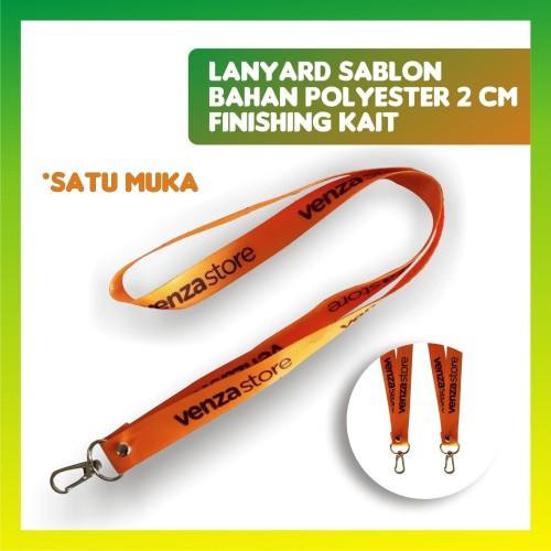 Foto Produk TALI IDCARD / LANYARD SABLON, 1 MUKA, BAHAN POLYESTER + KAIT dari jogjacardcom
