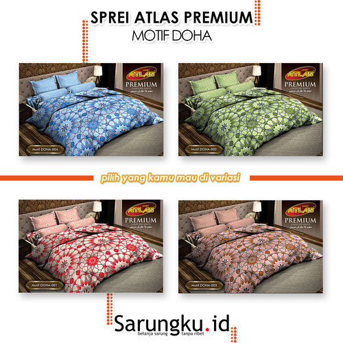 Foto Produk SPREI ATLAS PREMIUM MOTIF DOHA - Cover dari SarungkuID