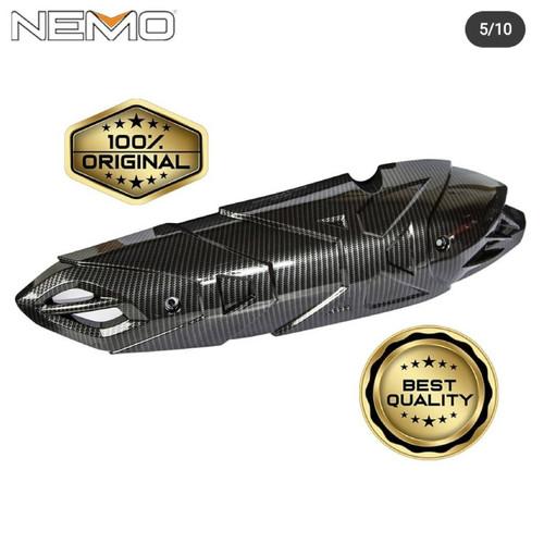 Foto Produk COVER TUTUP KNALPOT NMAX 2020 ALL NEW NEMO CARBON PRINTING dari Lestari Motor 2
