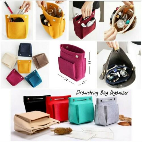 Foto Produk Drawstring Dual in Bag /New Concept Bag in Bag Organizer / Daleman Tas dari Travelycious
