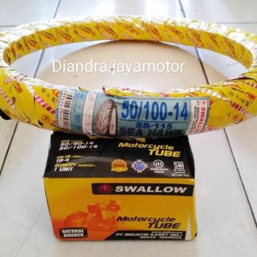 Foto Produk PAKET BAN MATIC SWALLOW+BAN DALAM UK.50/100.RING 14 (KODE 009)) dari Pamungkas_Market