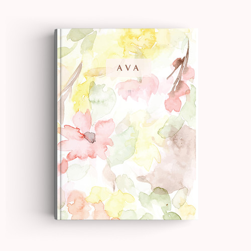 Foto Produk Notebook Custom A5 - Floral Abstract Watercolor - Journal | Planner dari The Book ID