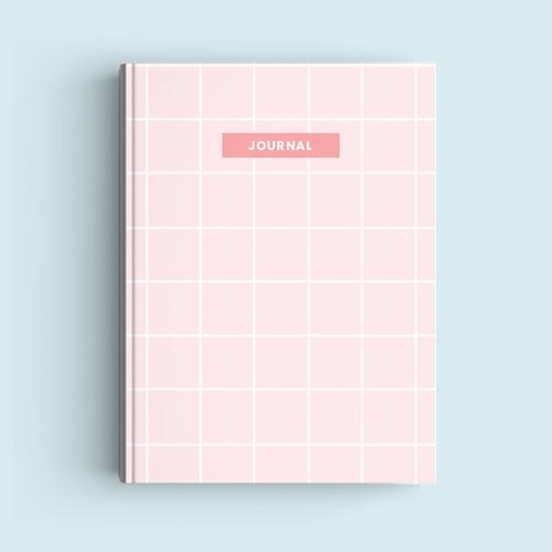 Foto Produk Notebook Custom A5 - Pink Squares - Journal 2020 | Planner dari The Book ID