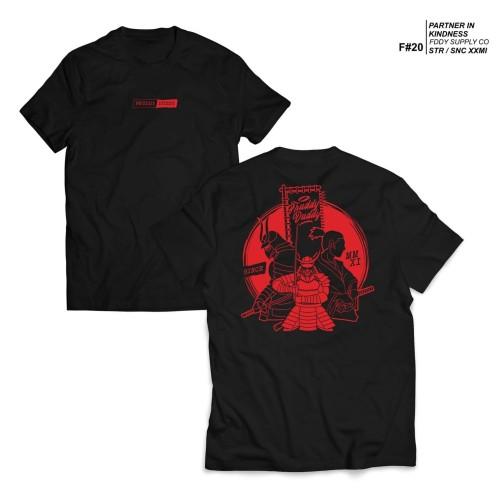 Foto Produk kaos hitam - fruddy duddy - fddy - red samurai - L dari Fruddy Duddy