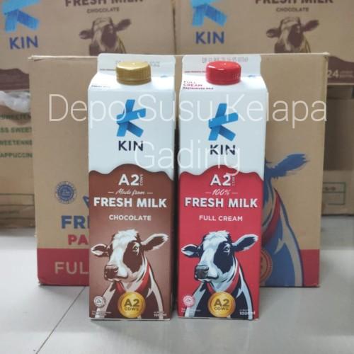 Foto Produk Susu Kin Pasteurisasi Freshmilk 1 litter | Full Cream / Coklat Segar - Full Cream dari Depo Susu Kelapa Gading