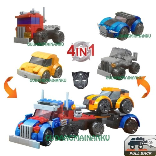 Foto Produk Mainan LEGO 4 in 1 Transformers City Car Merek Great Friend (dapat 4) dari Gudangmainanku