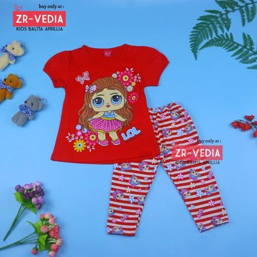 Foto Produk Setelan LOL uk 4-5 Tahun / Baju Anak Karakter Perempuan - Motif LOL dari ZR-Vedia