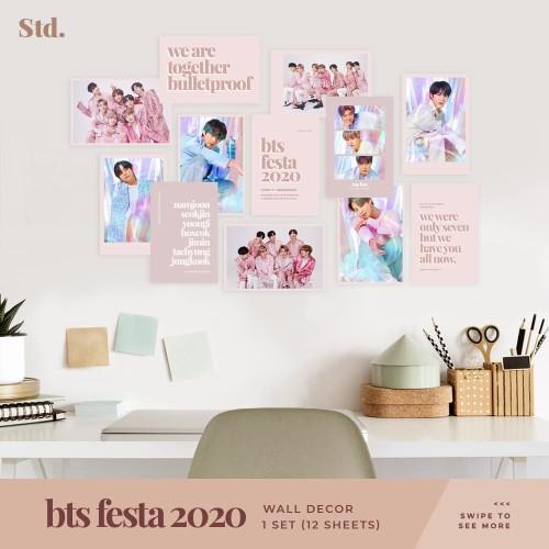 Jual Bts Festa Wall Decor Hiasan Dinding Poster Kpop Minimalist Aesthetic Kota Surabaya Simply The Daebak Tokopedia