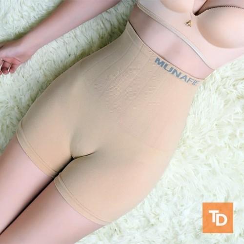 Foto Produk Panty 4 Munafie Boxer Celana Dalam Wanita Bikini Seksi Katun Nyaman - Hitam dari Teman Dalam
