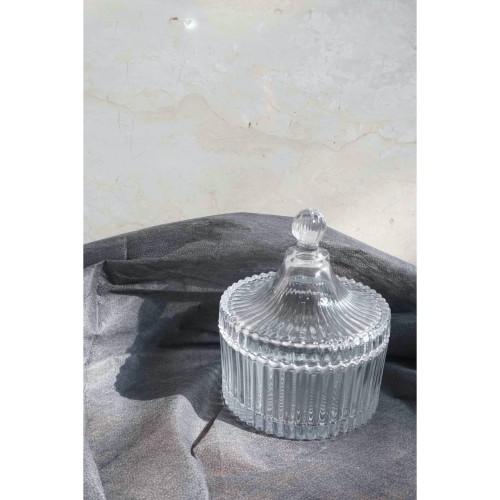 Foto Produk Arcia Crystal Candy Jar   Toples Kaca Kristal diameter 10.5 cm dari Tasata