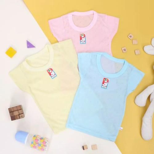 Foto Produk Kaos Oblong Bayi dan Anak Merk Power Kids kualitas SNI - Merah Muda, S dari LDLSHOP
