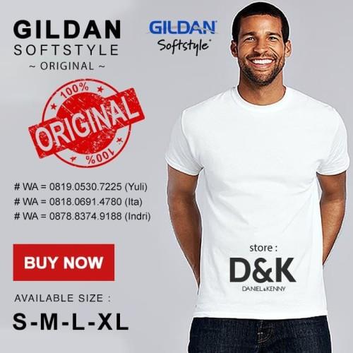 Foto Produk Kaos Polos Gildan Softstyle White Original ( S M L XL ) - WHITE, S dari Gildan Softstyle Original