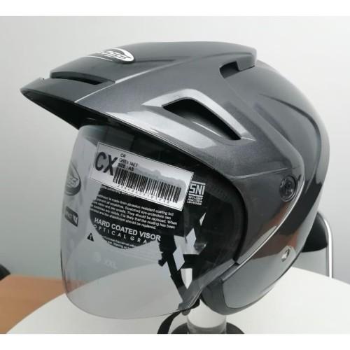 Foto Produk Cargloss CX Cargloss Helm Half Face - GREY MET dari Helm Cargloss