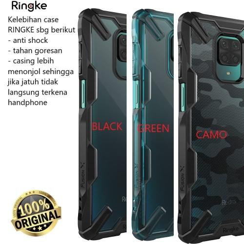 Foto Produk Case Redmi Note 9 Pro Hardcase Original Rearth Ringke Fusion - Green dari Dukun Gadget Acc
