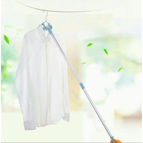 Foto Produk Tongkat Jemuran Pakaian Baju Bisa Setel Panjang Pendek M83 dari d'unlimited store