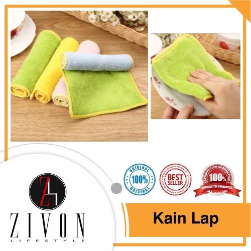 Foto Produk Kain Lap Microfiber Murah Serbaguna Piring Meja Kaca Mobil ZH27 dari ZIVON HOME DECOR