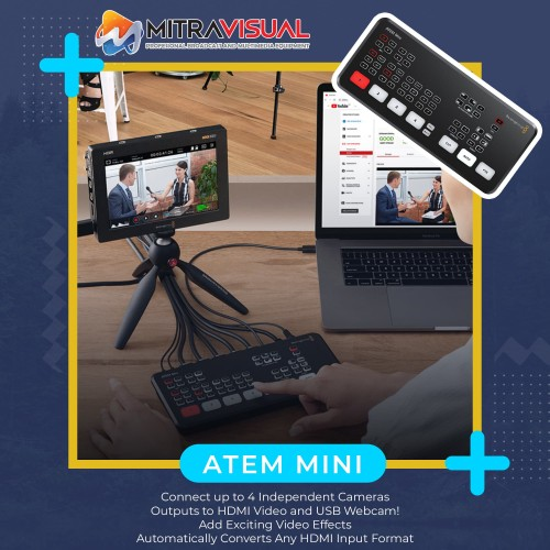 Foto Produk Blackmagic Design ATEM Mini HDMI Live Stream Switcher dari Mitra Visual