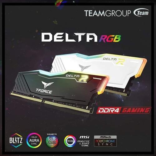 Foto Produk Team Delta RGB 16GB (8GBx2) Delta RGB PC28800 /3600 MHZ - Putih dari Yoestore