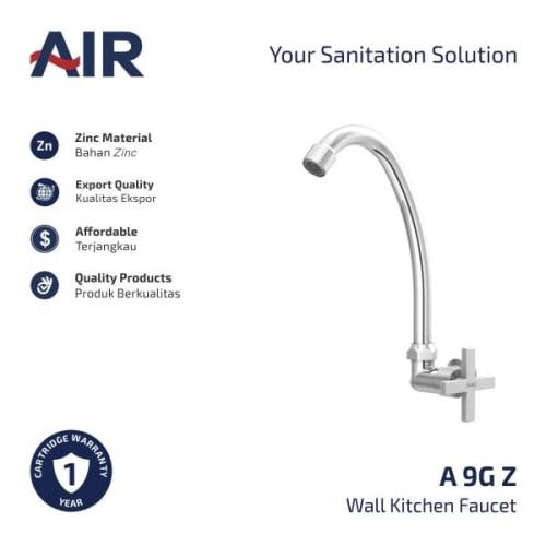 Foto Produk AIR Kran Dapur - Keran Angsa / Kitchen Faucet - Wall Mounted A 9G Z dari AER Sanitary Indonesia